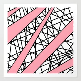 Lazer Dance P Art Print