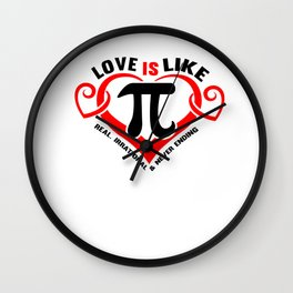 Math Love Irrational endless wordplay gift Wall Clock