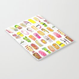 Sushi Watercolor-- Nigiri Sushi Notebook