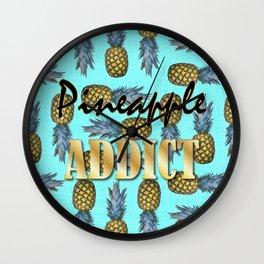Pineapple Addict Wall Clock