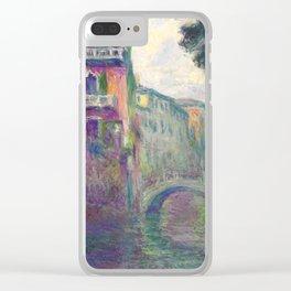 """Claude Monet """"Le Rio de la Salute"""" Clear iPhone Case"""