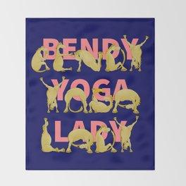 Yoga Pony Throw Blanket