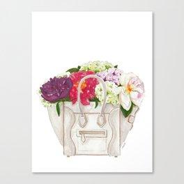Flowers in Designer Handbag Canvas Print