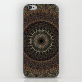 Mandala in brown tones iPhone Skin