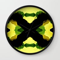 reggae Wall Clocks featuring Reggae Fields by Stoian Hitrov - Sto