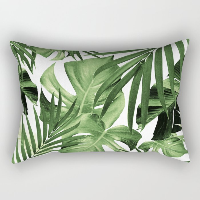 Tropical Jungle Leaves Pattern #12 #tropical #decor #art #society6 Rectangular Pillow