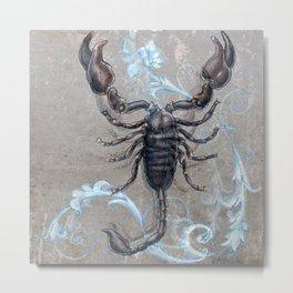 The black scorpion Metal Print