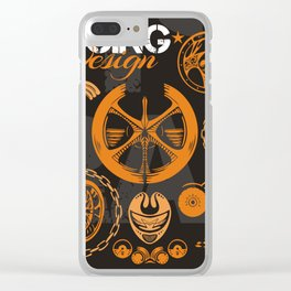 Racing Clear iPhone Case