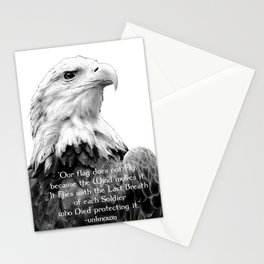Eagle with Patriotic Quote Stationery Cards