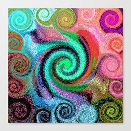Sticky Love Mosaic Canvas Print