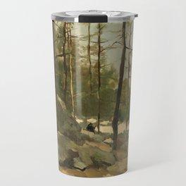 Wooded View near Barbizon - Johan Hendrik Weissenbruch (1900) Travel Mug
