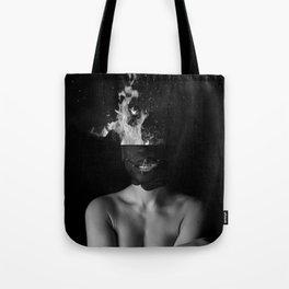 Hot Girl Abstract Art Tote Bag
