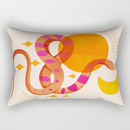 Abstraction_SUN_MOON_SNAKE_Minimalism_001 Rectangular Pillow
