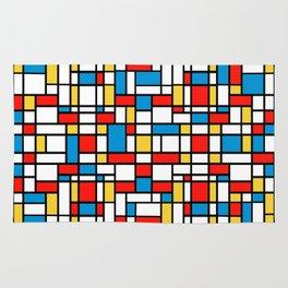 Mondrian design, abstract pattern Rug