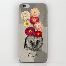 flower owl iPhone & iPod Skin