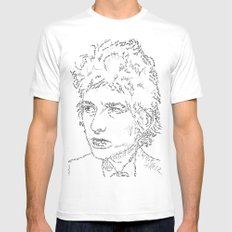 Bob Dylan WordsPortrait  Mens Fitted Tee White MEDIUM