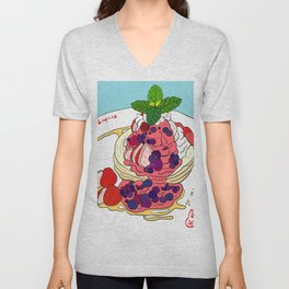 Very Berry Pancakes Unisex V-Neck