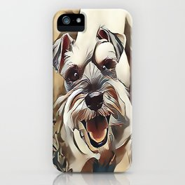 The White Miniature Schnauzer iPhone Case