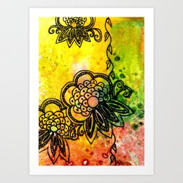 Henna Fantasia Exotic Art Print
