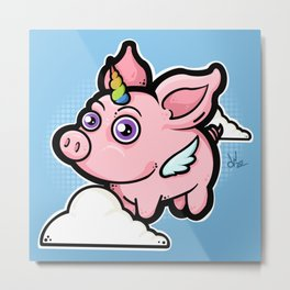 Piggycorn Metal Print