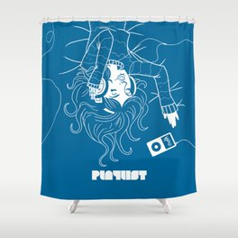 Köpke's Playlist Shower Curtain