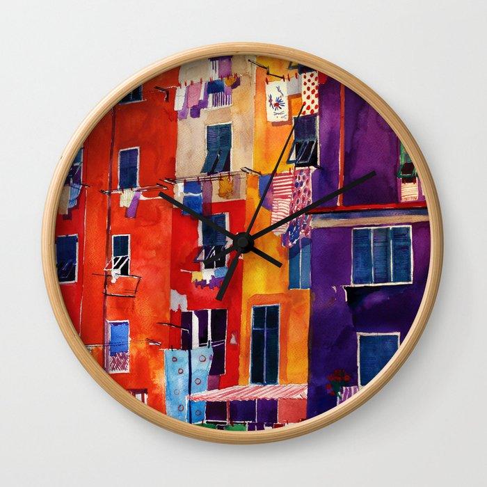 Portovenere Wall Clock