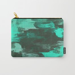 Chill Factor - Abstract cyan blue painting Carry-All Pouch
