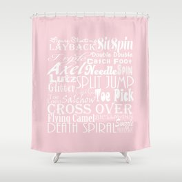 Figure Skating Subway Graphic Design Shower Curtain