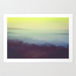 Coastal Landscape Abstract Art Print
