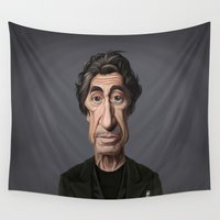 celebrity Wall Tapestries featuring Celebrity Sunday ~ Al Pacino by rob art | illustration