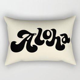 Aloha black Rectangular Pillow