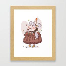 Cake Opal Framed Art Print