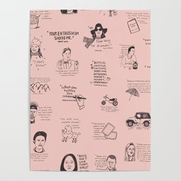 Gilmore Girls Quotes in Pink Poster