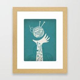 Yarn Love - Teal  Framed Art Print