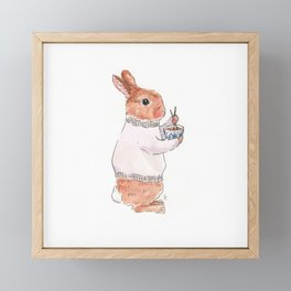 Friday Bun Framed Mini Art Print