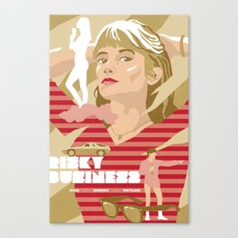 80s TEEN MOVIES :: RISKY BUSINESS Canvas Print