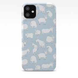 Goats Playing – Blue iPhone Case