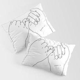 Pinky Promise Line Art Minimal Pillow Sham