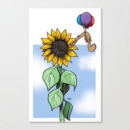 Floating toward a dream Canvas Print