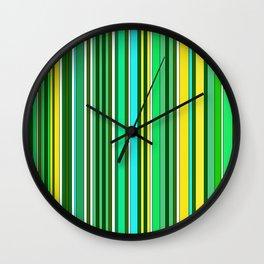 GREEN SPRING STRIPES Wall Clock