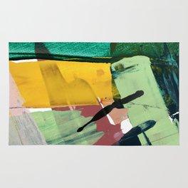 Hopeful[3] - a bright mixed media abstract piece Rug