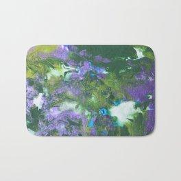 Abstract Wildflower Field Bath Mat