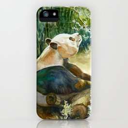 Stop and Smell the Flowers Panda id1270236 iPhone Case