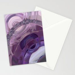 Purple Ripples Stationery Cards