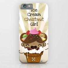 Ice Cream Chestnut Girl iPhone 6s Slim Case