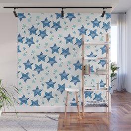 Twinkle little blue stars Wall Mural