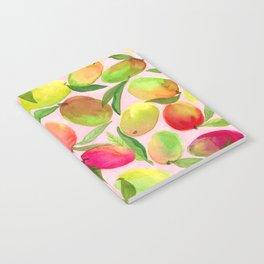 Mango Watercolor Painting Notebook