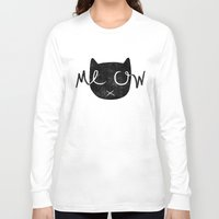 meow Long Sleeve T-shirts featuring Meow by Laura O'Connor
