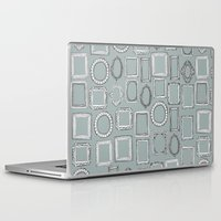 frames Laptop & iPad Skins featuring picture frames grey by Sharon Turner