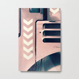 Road Roller Chevron - Industrial Abstract (everyday 17.01.2017) Metal Print